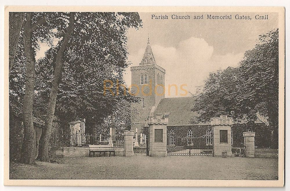 Scotland: Fife. Crail Parish Church And Memorial Gates, Early 1900s Postcard