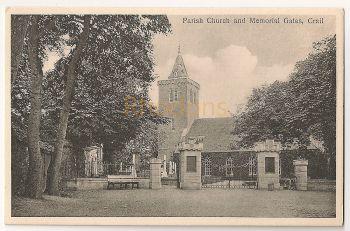 Scotland: Fife. Crail Parish Church And Memorial Gates, Early 1900s Postcard