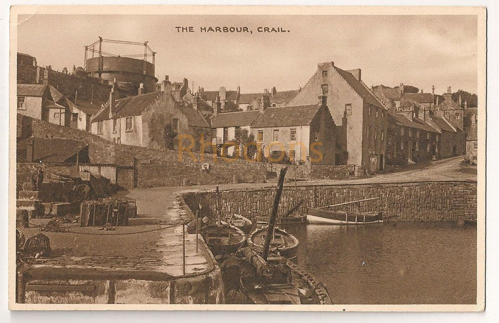 Scotland: Fife.Crail Harbour, Early 1900s Postcard