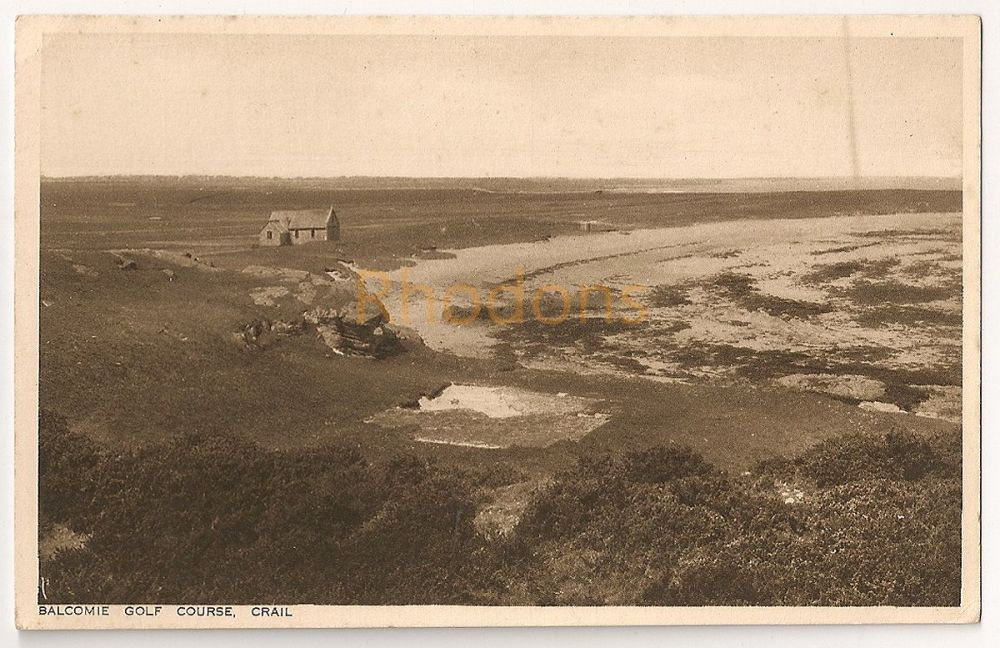 Scotland: Fife. Balcomie Golf Course, Crail. Early 1900s Photo Postcard