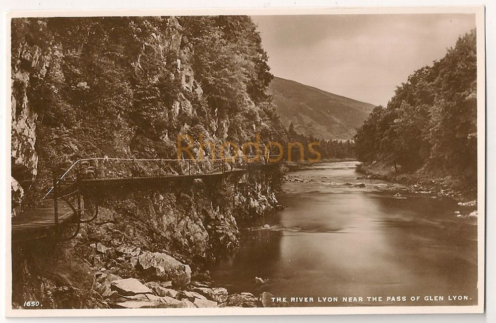 Scotland: Perth & Kinross. The River Lyon Near The Pass Of Glen Lyon. Real Photo Postcard