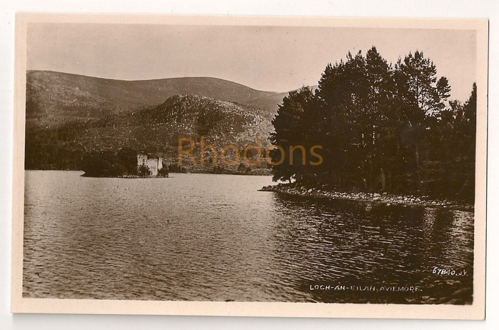 Scotland: Highlands, Cairngorms. Loch an Eilein, Aviemore. Early 1900s Real Photo Postcard