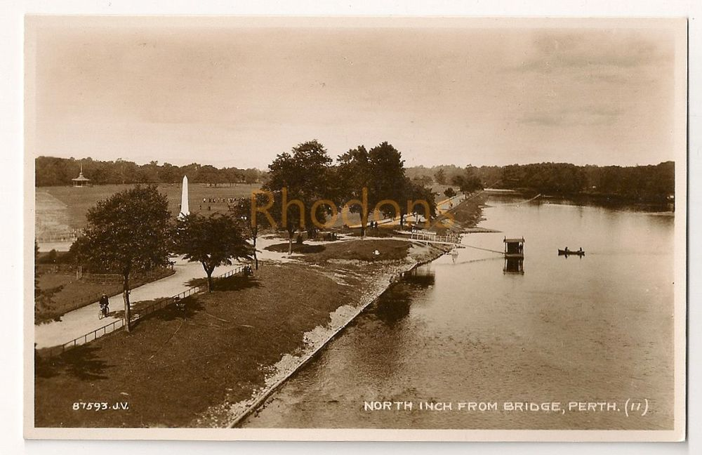 Scotland: Perthshire. North Inch From Bridge, Perth, Early 1900s Real Photo Postcard