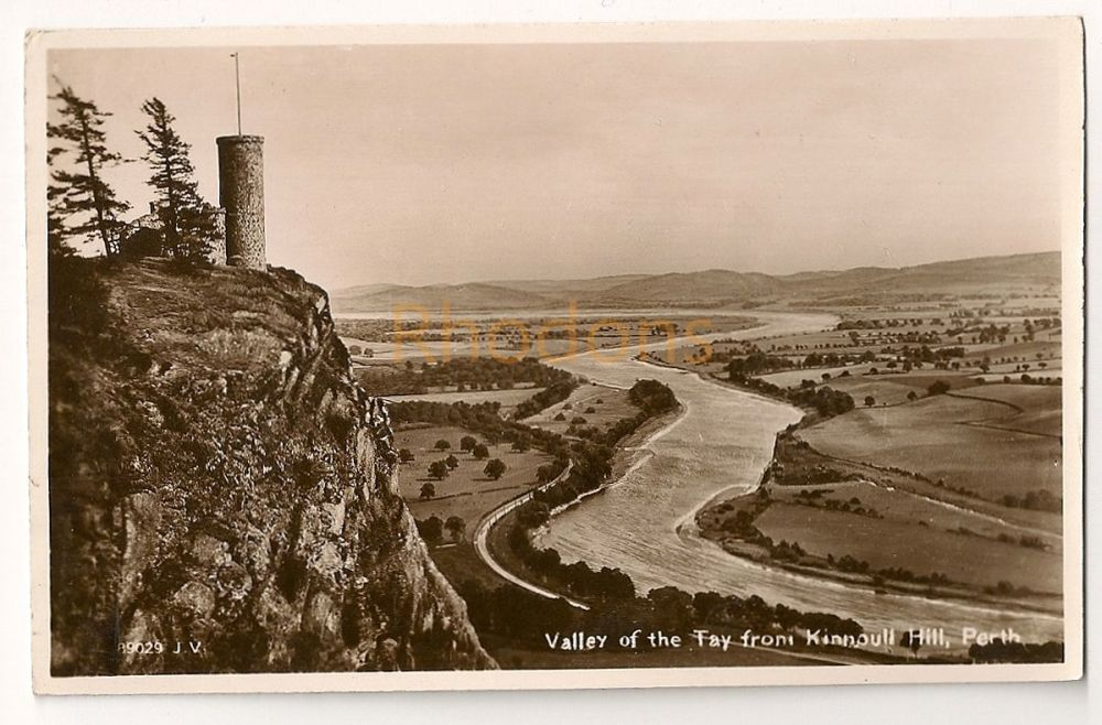 Scotland: Perth & Kinross. Valley Of The Tay From Kinnoull Hill, Perth. Real Photo Postcard