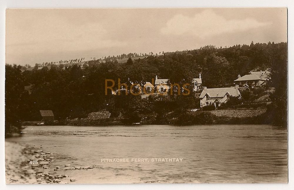 Scotland: Perth & Kinross. Pitnacree Ferry, Strathtay. Early 1900s Real Photo Postcard