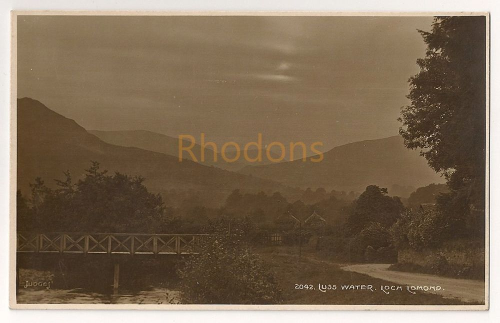 Scotland: Argyll & Bute. Luss Water, Loch Lomond. Early 1900s Real Photo Postcard