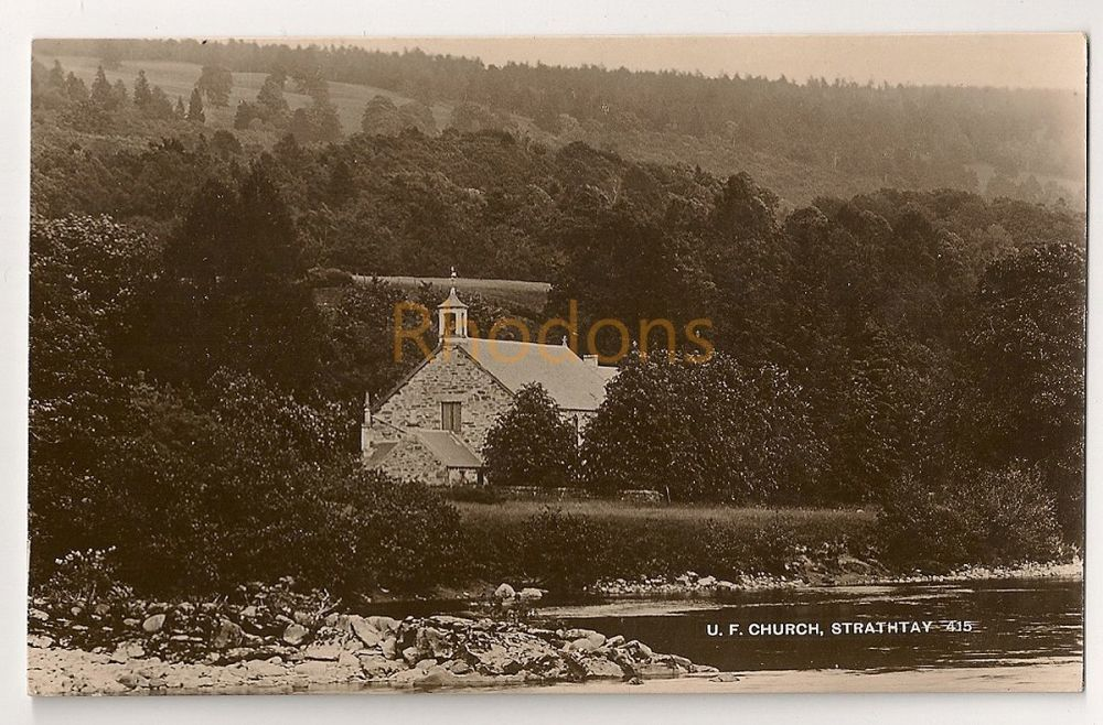 Scotland: Perth & Kinross. United Free Church Strathtay. Early 1900s Real Photo Postcard