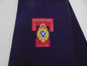 Vintage Tie, Necktie For Scottish Licensed Trade Association S L T A Centenary 1880-1980.