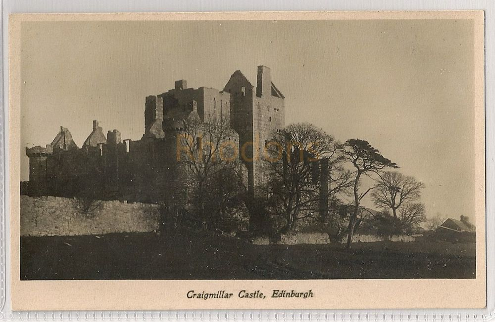 Scotland: Midlothian. Craigmillar Castle, Edinburgh. Real Photo Postcard