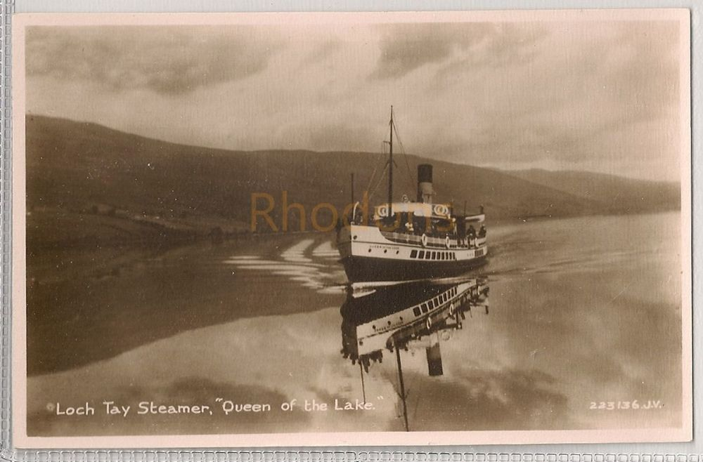 Scotland: Perth & Kinross. Loch Tay Steamer 'Queen Of The Lake'. Real Photo Postcard