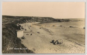 Scotland: Fife. Roome Bay, Crail. Early 1900s Real Photo Postcard