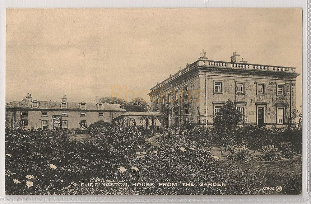 Scotland: Edinburgh, Midlothian. Duddingston House, View From The Garden. Early 1900s Postcard