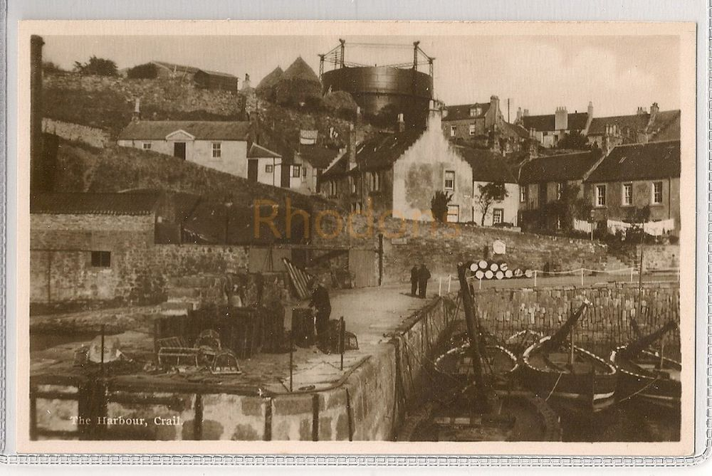 Scotland: Fife. The Harbour, Crail. Early 1900s Postcard