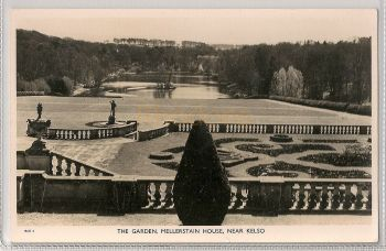 Scotland: Roxburghshire. The Garden Mellerstain House Near Kelso. Real Photo Postcard