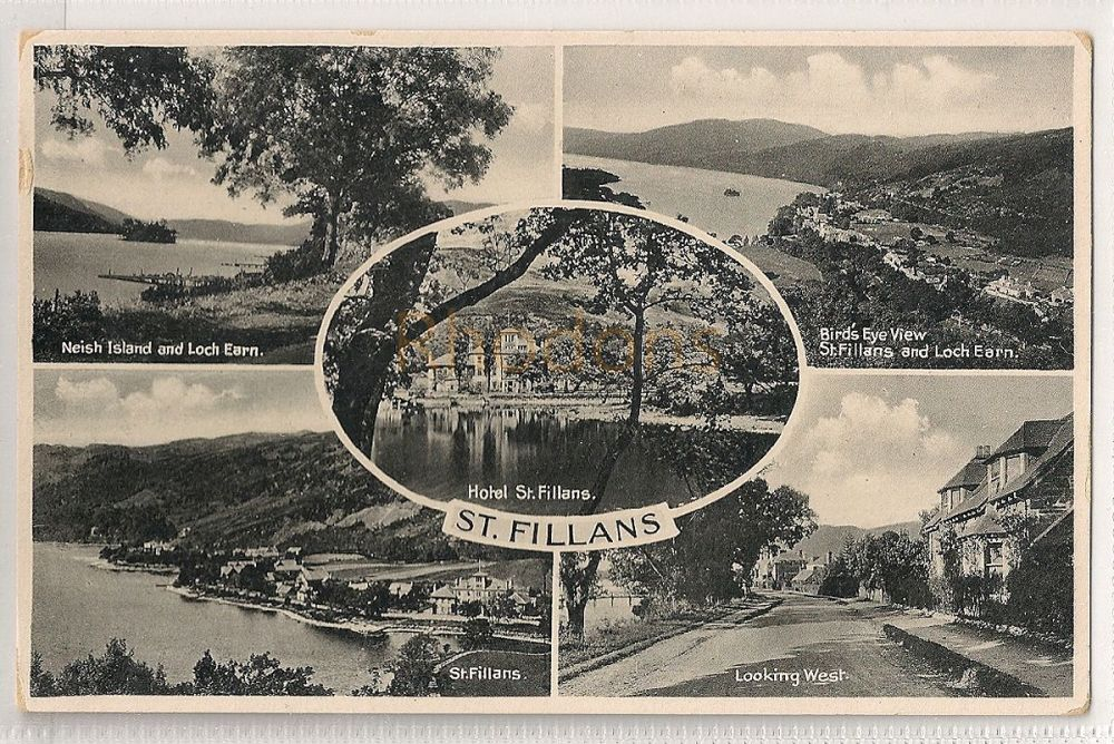 Scotland: Perth & Kinross. St Fillans Multiview Postcard. Hotel St Fillans, Loch Earn