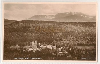Scotland: Aberdeenshire. Balmoral And Lochnagar. Real Photo Postcard