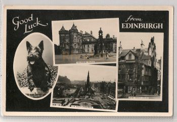 Scotland: Midlothian. Good Luck From Edinburgh. Raphael Tuck Multiview Photo Postcard