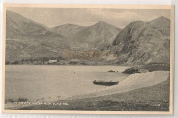 England: Cumbria. Crummock Water From Scale Hill. Printed Photo Postcard
