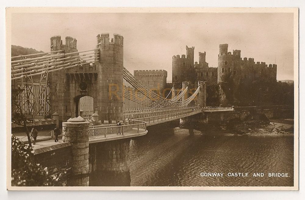 Wales: Conwy. Conway Castle And Bridge. Real Photo Postcard