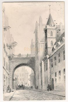 Scotland: Midlothian. Magdelane Chapel, Cowgate, Edinburgh. Early 1900s Art Postcard