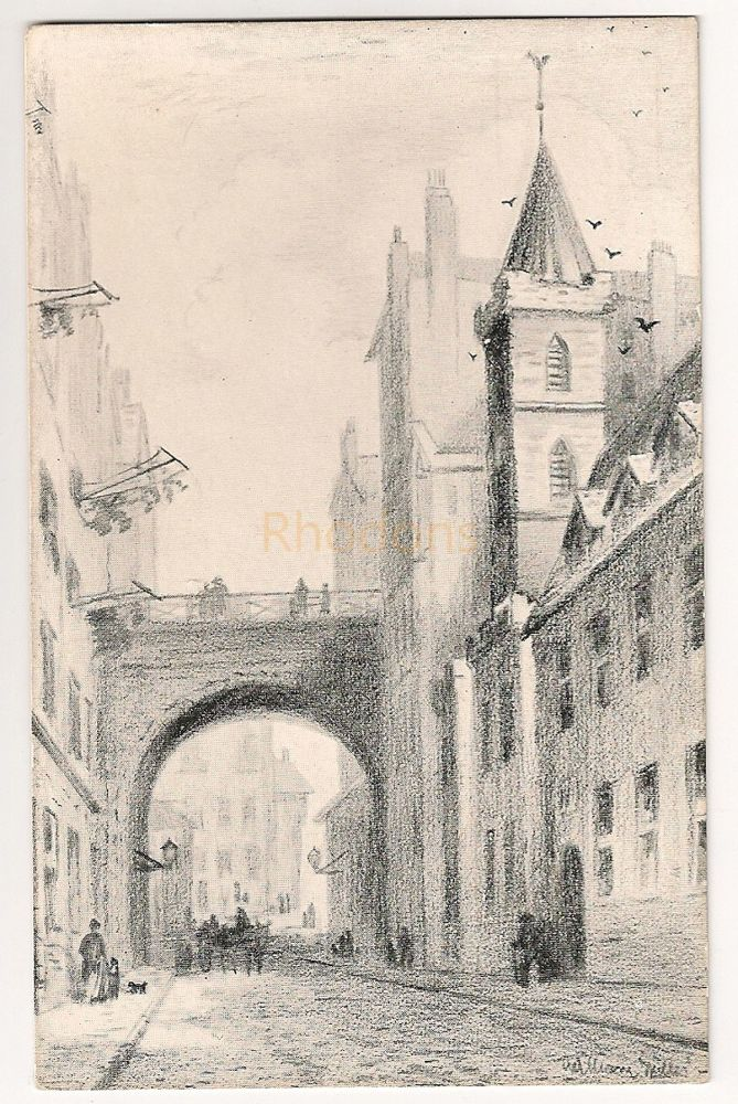 Scotland: Midlothian. Magdelane Chapel, Cowgate, Edinburgh. Early 1900s Art Postcard