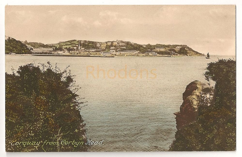 England: Devon.Torquay From Corbyn Head. Early 1900s Friths Series Postcard