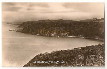 England: Devon. Babbcombe From Cliff Path. Early 1900s Real Photo Postcard