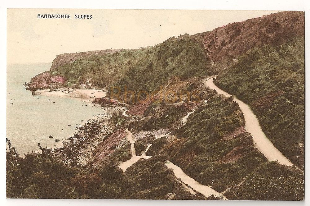 England: Devon. Babbacombe Slopes Near Torquay. Colour Printed Photo Postcard
