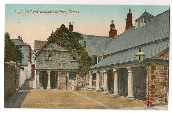 England: Devon. Totnes, Guild Hall And Sextons Cottage. Early 1900s Colour Postcard