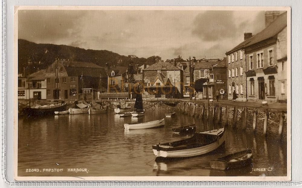 England: Cornwall. Padstow Harbour. 1950s Printed Photo Postcard