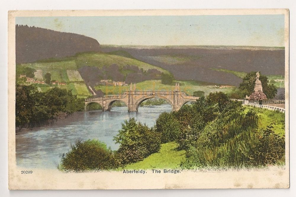 Scotland: Perth & Kinross. The Bridge, Aberfeldy. Early 1900s Postcard