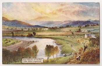 Tucks Oilette Postcard No: 7791 - View from Logierait. 'Valley Of The Tay' Series 11. Early 1900s