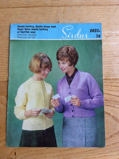 Sirdar Knitting Pattern For Lady's Cardigan No 2023B