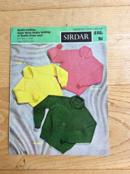 Sirdar Knitting Pattern For Childs Lumber Jackets. Growing Up Series No 686B