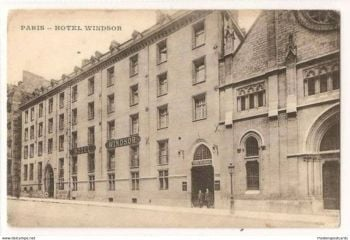 France: Paris. Hotel Windsor Exterior View, Paris, France. Early 1900s