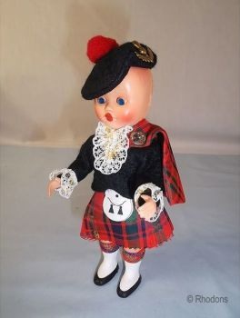 Rosebud Scottish Costume Doll. Circa 1950s, 1960s Vintage