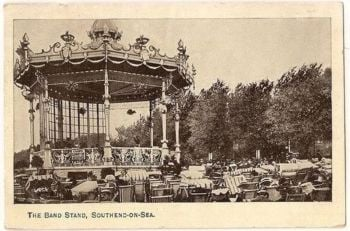 England: Essex. The Bandstand Southend on Sea. Early 1900s Postcard