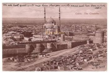 Africa: Egypt. The Citadelle, Cairo Early 1900s Postcard