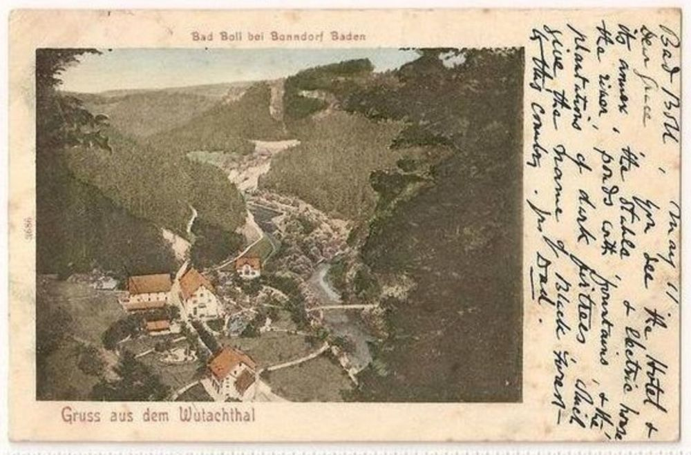 Europe: Germany. Gruss Aus Dem Wutachthal, Bad Boll Bei Bonndorf Baden. Early 1900s Postcard