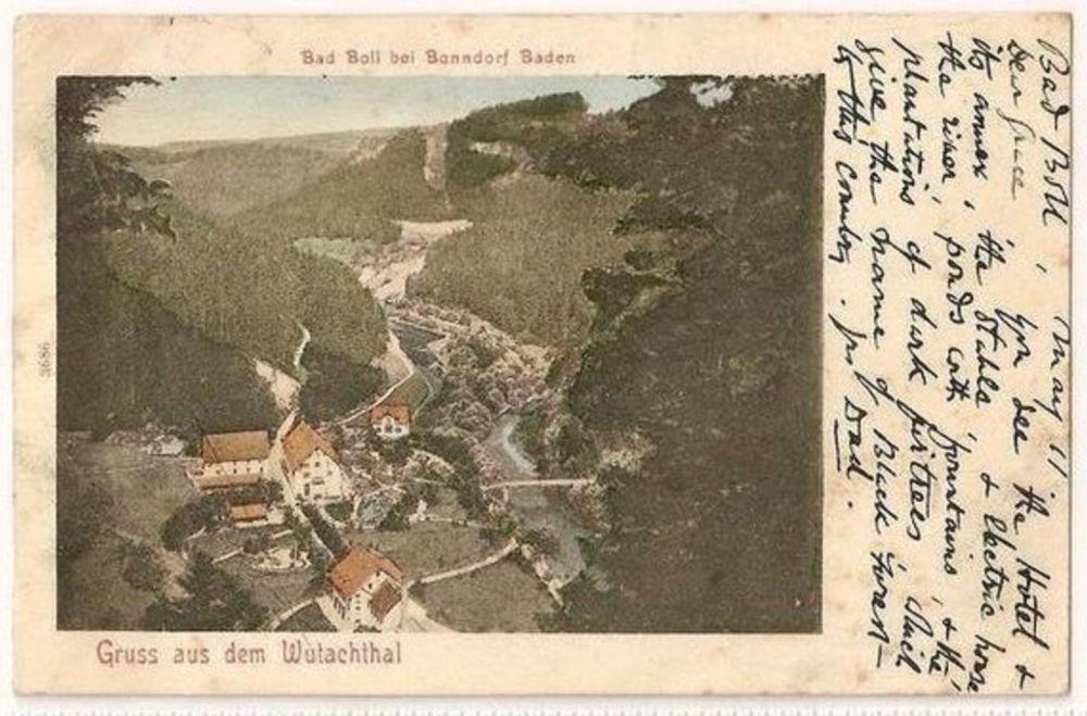 Europe: Germany. Gruss Aus Dem Wutachthal, Bad Boll Bei Bonndorf Baden. Early 1900s Postcard
