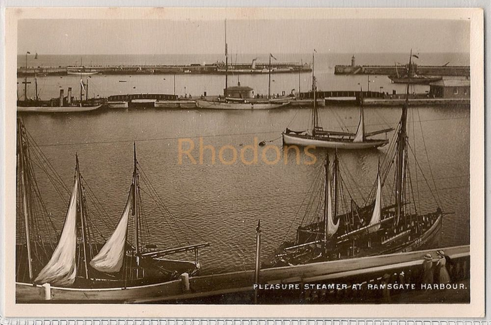 England: Kent. Pleasure Steamer At Ramsgate Harbour Circa 1930s. Real Photo Postcard