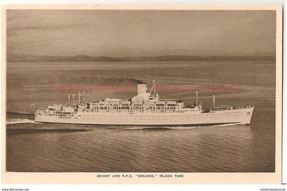 Orient Line RMS Orcades 18,000 Tons. Circa 1950s / 1960s Postcard