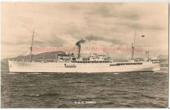 P&O Shipping Line: SS Corfu, 1950s Real Photo Postcard