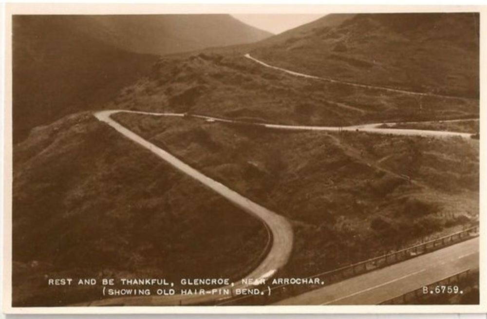 Scotland: Argyllshire. Rest & Be Thankful, Glencoe Near Arrochar. Real Photo Postcard