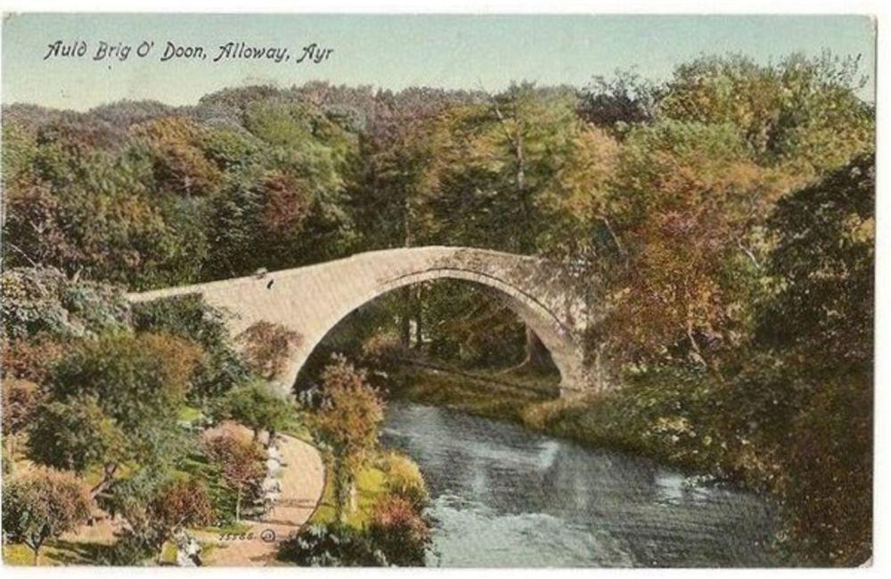 Scotland: Ayrshire, Auld Brig O'Doon, Alloway Ayr. Early 1900s Postcard