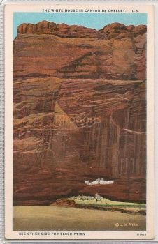 USA: New Mexico. The White House In Canyon De Chelley. Early 1900s Postcard