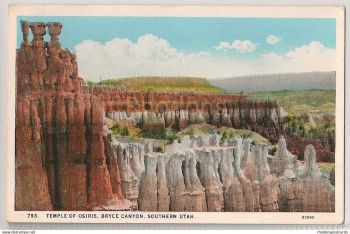 USA: Utah. Temple Of Osiris Bryce Canyon Southern Utah. Early 1900s Postcard