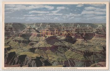 USA: Arizona. Grand Canyon National Park, Canyon From Yavapai Point. Circa 1920s Postcard