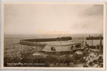 England: Kent. Royal Victoria Pavilion Ramsgate. Early 1900s Animated Real Photo Postcard