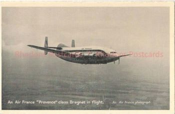 Air France 'Provence' Class Bregnet Aircraft In Flight. Air France Printed Photo Postcard